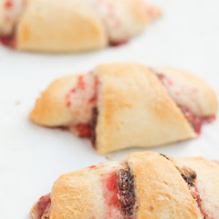 Nutella Peanut Butter and Jelly Crescent Rolls.