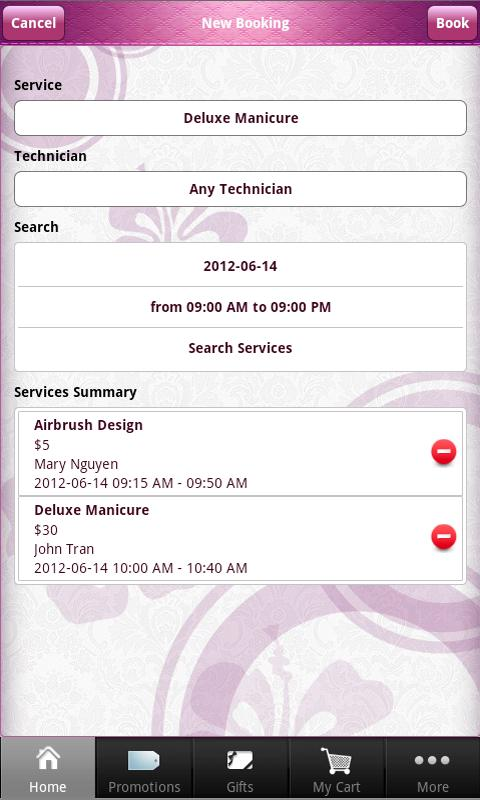 Nails Booking - screenshot