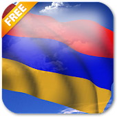 3D Armenia Flag Live Wallpaper