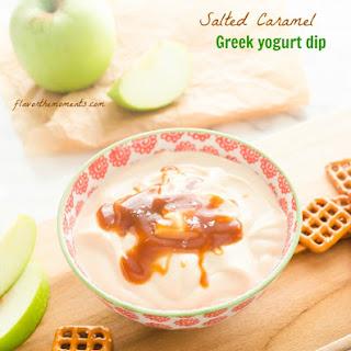 Salted Caramel Greek Yogurt Dip