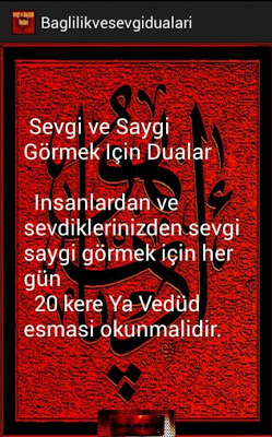 BAĞLILIK VE SEVGİ DUALARI - screenshot