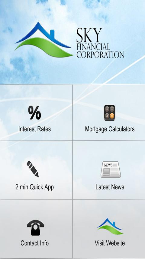 Sky Financial, Canada Mortgage - screenshot
