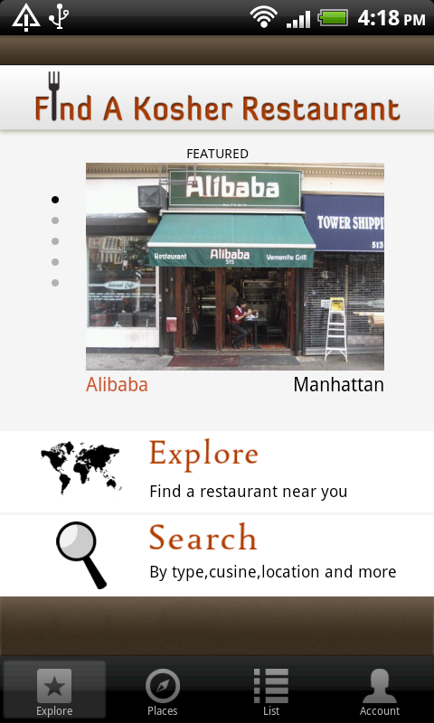 Find A Kosher Restaurant Android Apps On Google Play