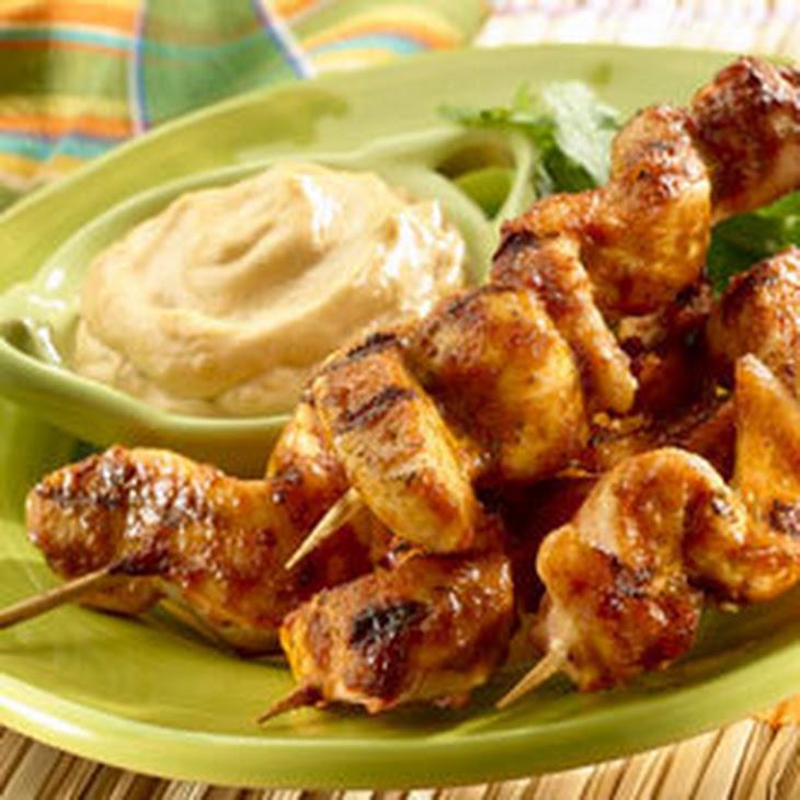 Chipotle Cilantro Chicken Skewers Recipe