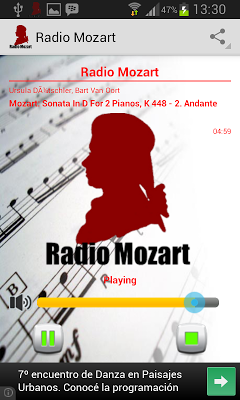 Radio Mozart - screenshot