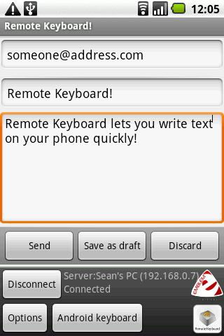 Remote Keyboard Input Method- screenshot