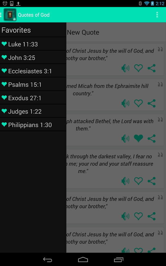 Quotes of God- screenshot