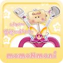 NK 카톡_모모N모니_같이밥먹자 카톡테마 icon