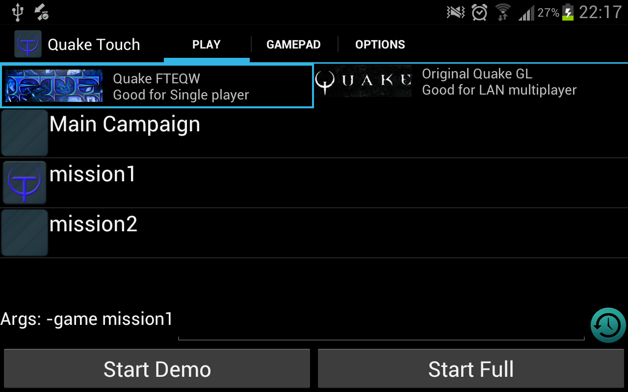 Quake Touch - screenshot