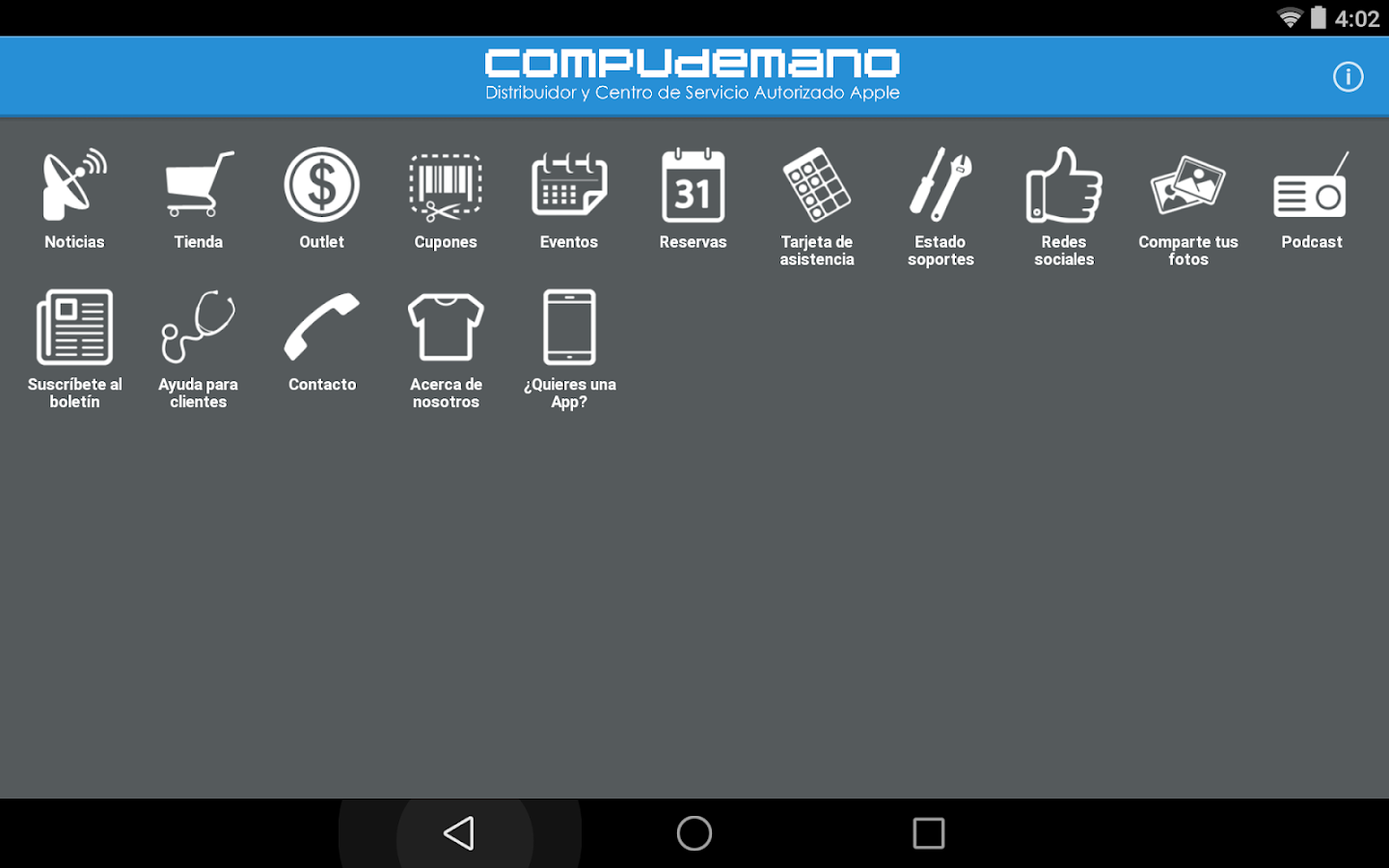 Compudemano App- screenshot