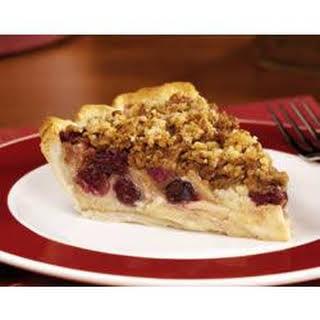 Apple Cranberry Streusel Custard Pie.