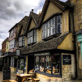 Burford by Laura Prieto - City,  Street & Park  Markets & Shops ( clouds, cotswold, quaint shops, quaint english towns, shops, burford, historic market town,  )