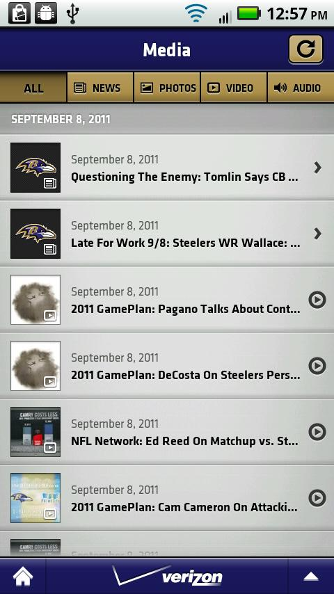 Baltimore Ravens Mobile - screenshot