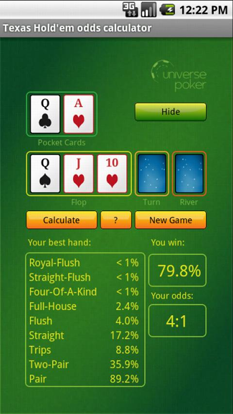 3 handed poker odds calculator