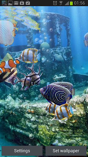The real aquarium HD - Live Wallpaper 2.26 screenshots 2