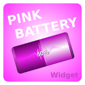 Girls Pink Battery Widget