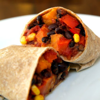 Roasted Sweet Potato and Black Bean Burrito.