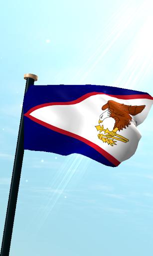 美國薩摩亞旗3D免費動態桌布