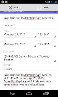 Share To Calendar - screenshot thumbnail