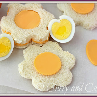 Heart Shaped Egg and Sandwich Cut-outs for Lunchbox Week.