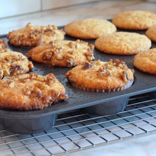 Banana Honey-Walnut Muffins