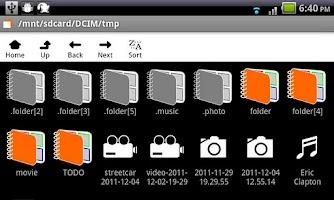 Screenshot of Hide It - make folders hidden