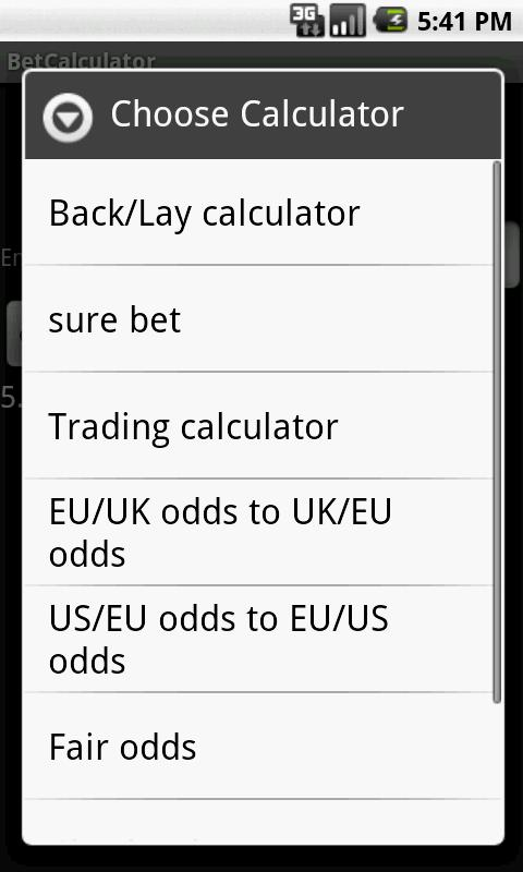 Bet Calculator 8 in 1 - screenshot