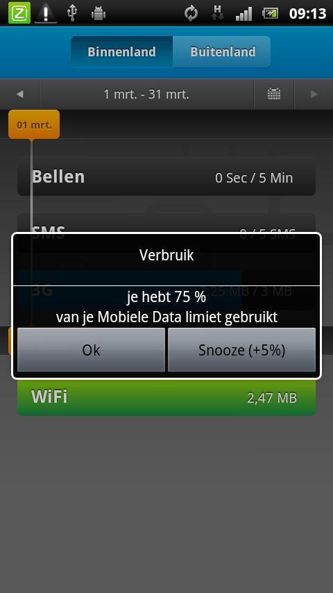 Ziggo Verbruik - screenshot