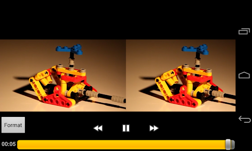 Side-By-Side Video Player Capture d'écran