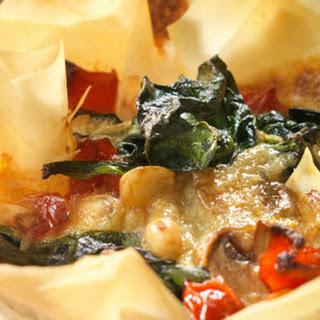 Mushroom And Parmesan Filo Tart