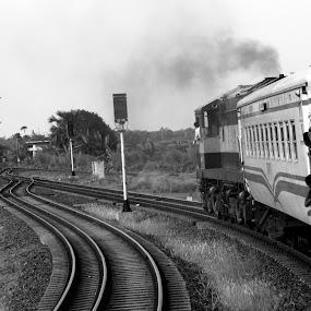 Going through Zigzag by Suaib Akhter - Transportation Trains ( bangladesh, train, travel, rajshahi )