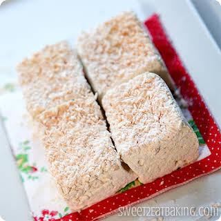 Toasted Coconut Vanilla Bean Marshmallows.