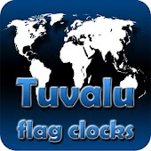 Tuvalu flag clocks