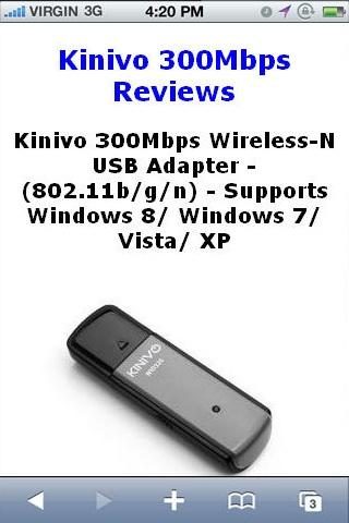 Wireless N USB 300Mbps Reviews