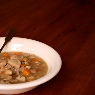 Cremini Mushroom Barley Soup