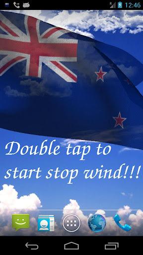 3D New Zealand Flag LWP