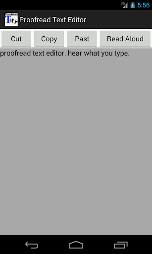 Proofread Text Editor