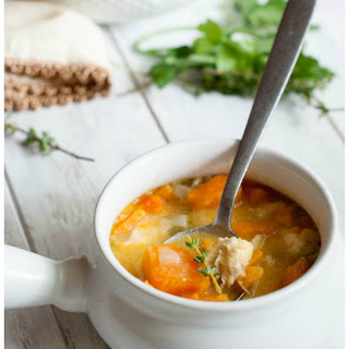 Homestyle Sweet Potato and Chicken Soup.