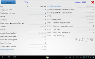Screenshot of PPh 21 Tax Calculator