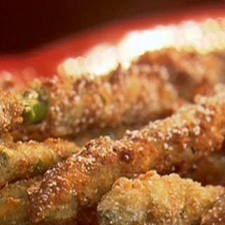 Fried Asparagus With Creole Mustard Sauce.