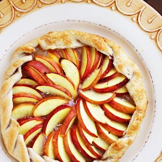 Rustic Peach and Ginger Tart