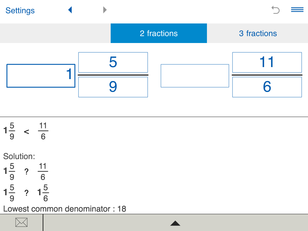 worksheet Comparing Decimals Calculator compare fractions calculator android apps on google play screenshot