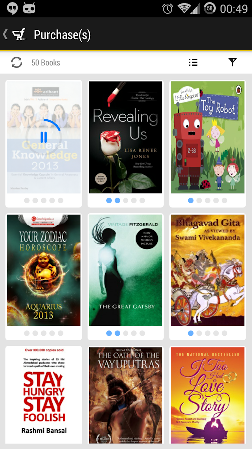 Flipkart eBooks- screenshot