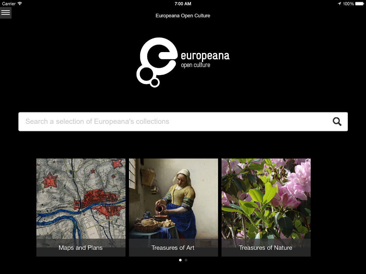 Europeana Open Culture - screenshot