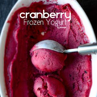 Cranberry Frozen Yogurt.