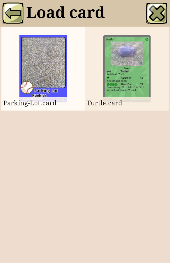 Deckromancy®Trading Card Maker- screenshot