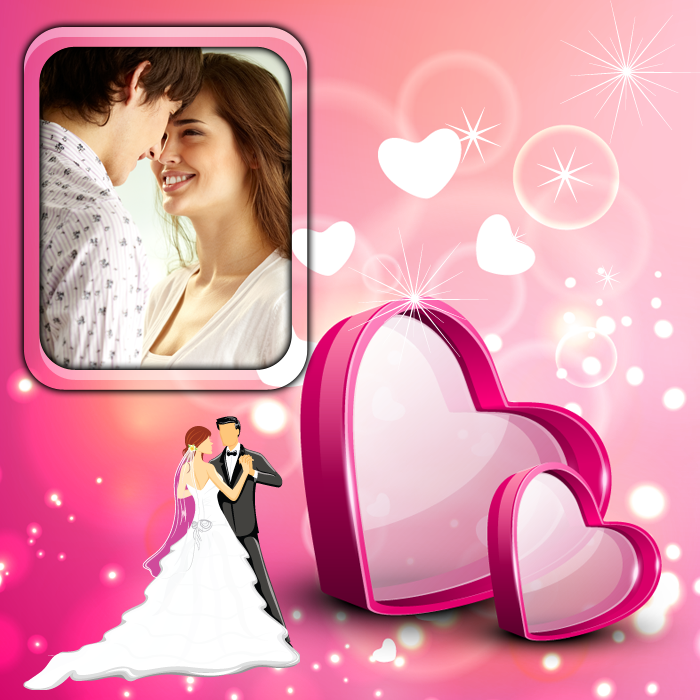 animated wedding frames screenshot