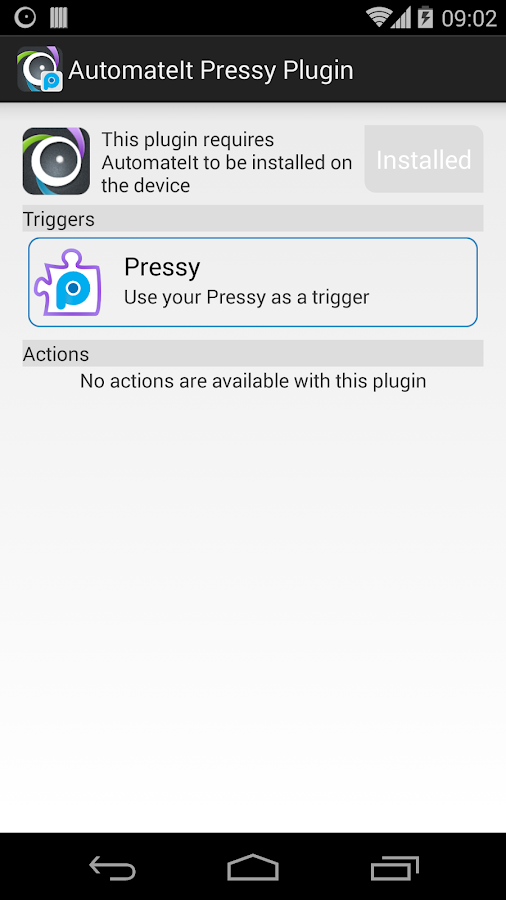 AutomateIt Pressy Plugin- screenshot