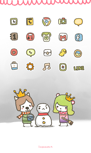 Moong Mong Snowman icon theme