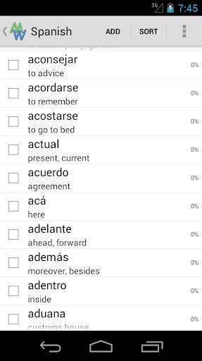 My Words - Learn Spanish